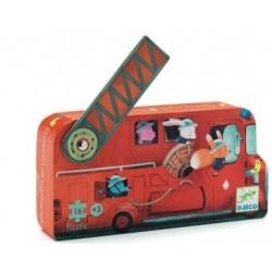 Le camion de pompier puzzle...